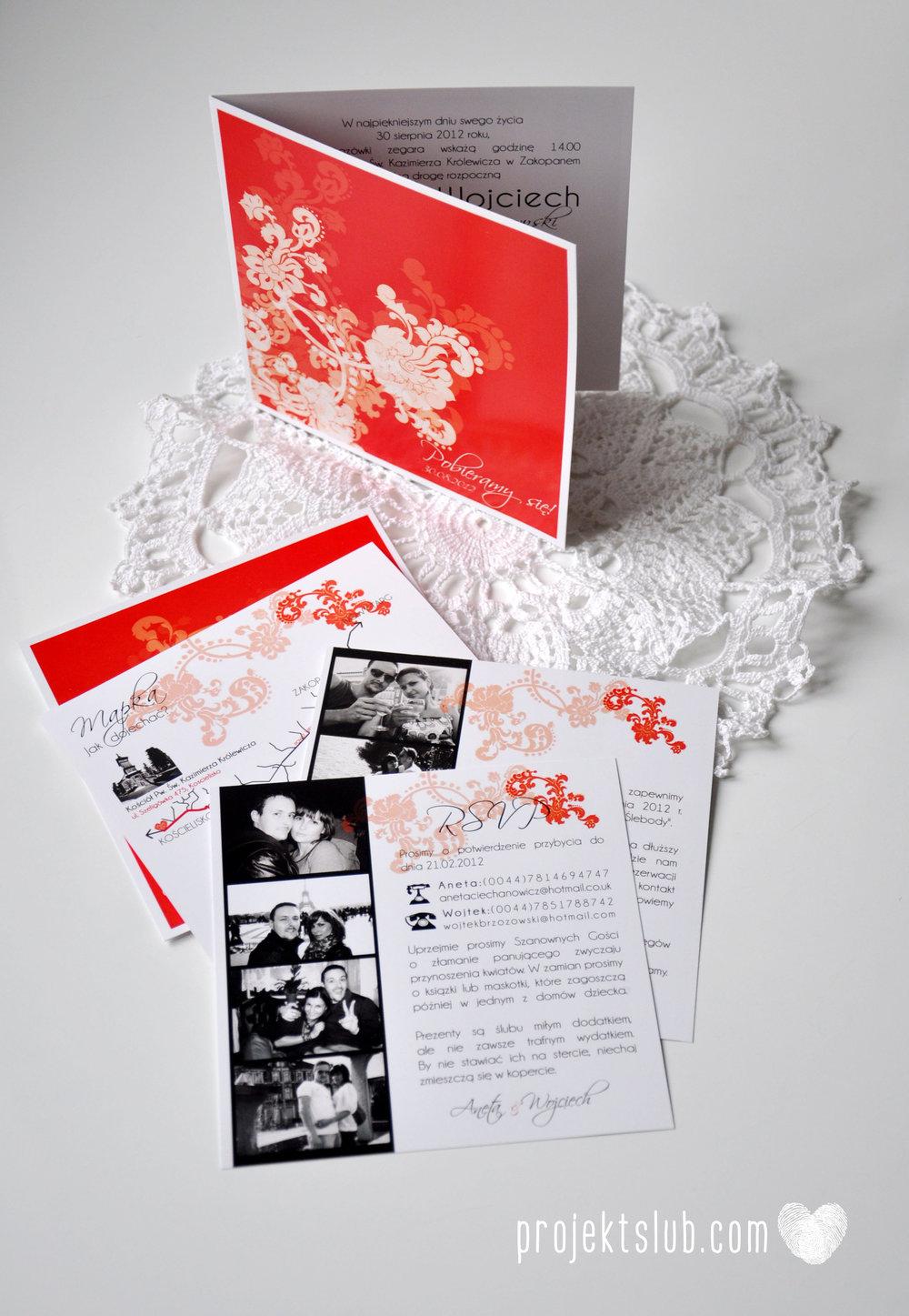 Zaproszenia i dodatki ślubne czerwona elegancja winietki menu zawieszki Projekt Ślub (3).jpg