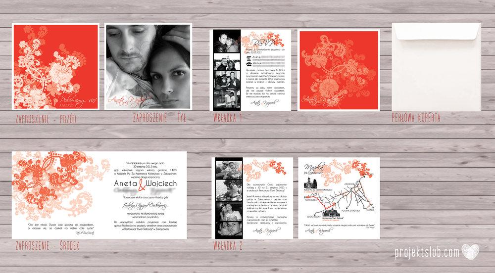 Zaproszenia i dodatki ślubne czerwona elegancja winietki menu zawieszki Projekt Ślub (7).jpg