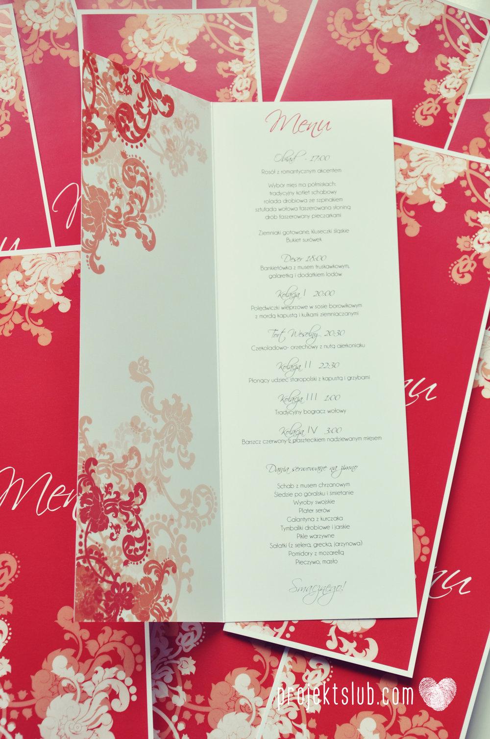 Zaproszenia i dodatki ślubne czerwona elegancja winietki menu zawieszki Projekt Ślub (9).jpg