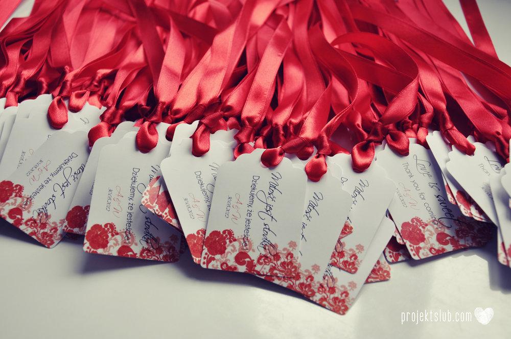 Zaproszenia i dodatki ślubne czerwona elegancja winietki menu zawieszki Projekt Ślub (18).jpg
