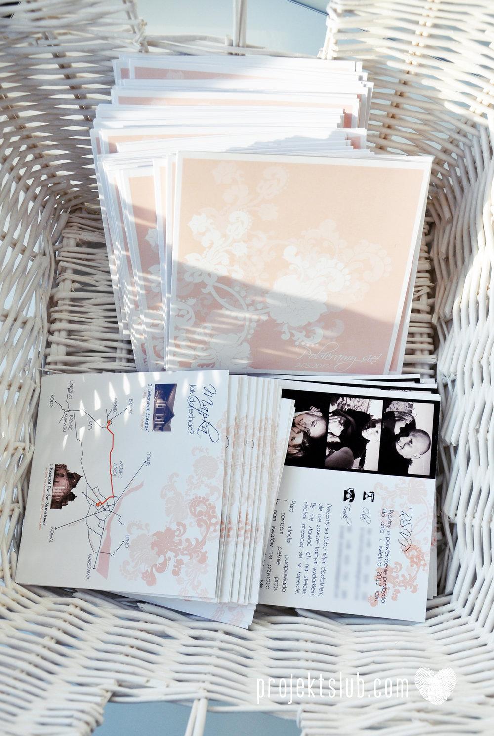 zaproszenia ślubne pudrowa elegancja róż pastele delikatne graficzne motywy klasyczny format projekt ślub (2).jpg