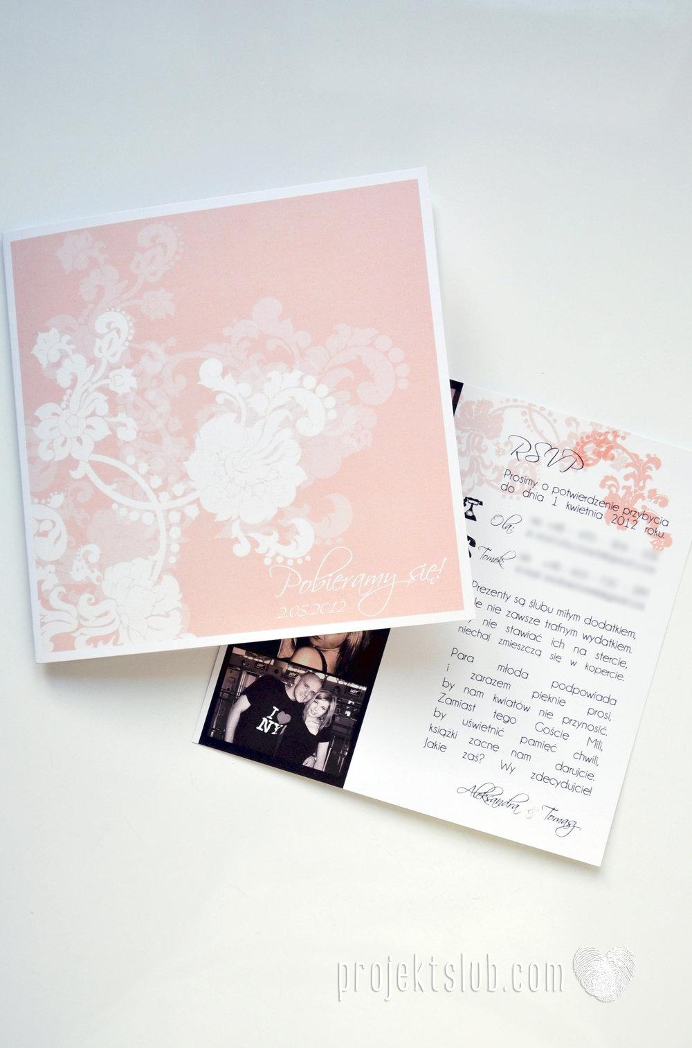 zaproszenia ślubne pudrowa elegancja róż pastele delikatne graficzne motywy klasyczny format projekt ślub (5).jpg
