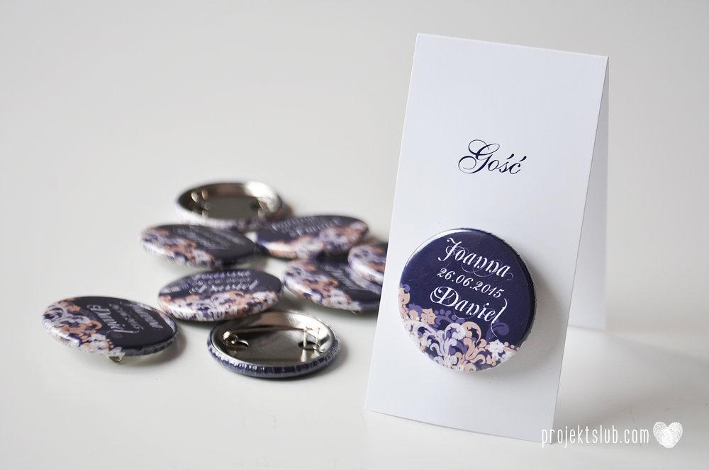 Klasyczne zaproszenie ślubne Granatowa Elegancja beżowa dodatki i dekoracje ślubne Projekt Ślub (10).jpg