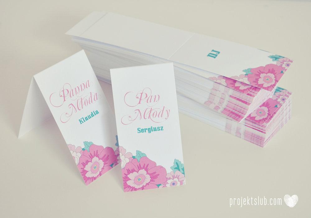 zaproszenia ślubne poczuj miętę pastelowe kolory mięta pudrowy róż kwiatowe rysunki para młoda grafika  piłka nożna elegancka papeteria projekt ślub (37).jpg