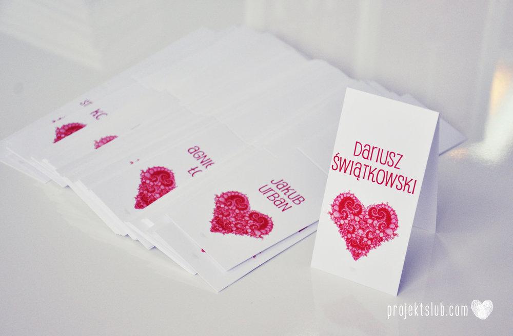 oryginalne zaproszenia i dodatki ślubne w odcieniach czerwieni bieli koralu i różu fraktale miłość serce Fraktalove Projekt Ślub (1).jpg