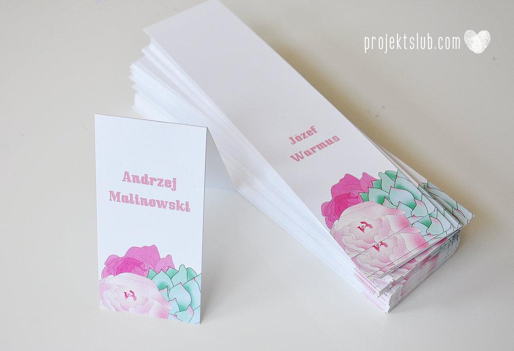 Zaproszenia ślubne z motywem kwiatów pudrowe kwiaty kwiatowa elegancja Projekt Ślub (23).jpg