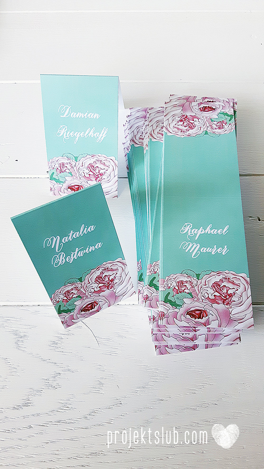 Zaproszenia  ślubne pasteove kwiaty ze wstążką wyjątkowe oryginalne najpiękniejsza papeteria ślubna mięta róż Projekt Ślub (11).jpg