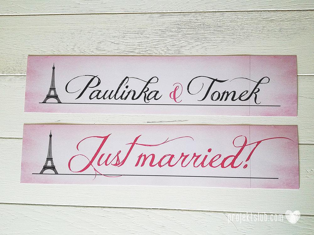 zaproszenia ślubne z kokardą eleganckie oryginalne nowoczesne rysunkowe pastelowe pudrowy róż wieża eiffel zakochani w paryżu zdjęcia  projekt ślub (4).jpg