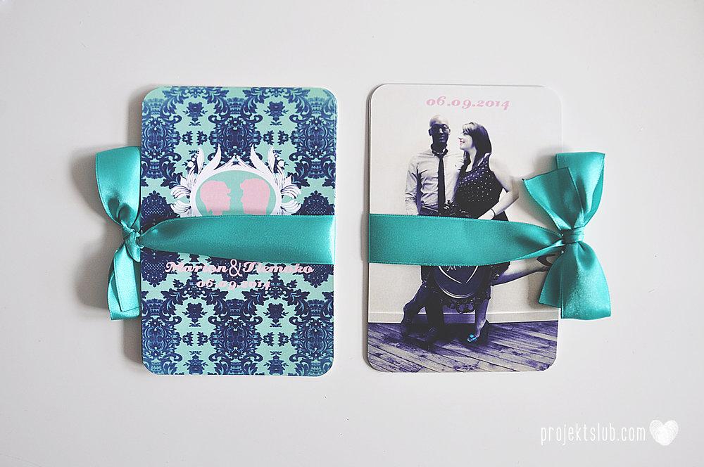 zaproszenia ślubne i dodatki weselne turkus mięta granat kamea piękne zaproszenia oryginalne nietypowe karty  elegancka oryginalna papeteria projekt ślub (7).jpg