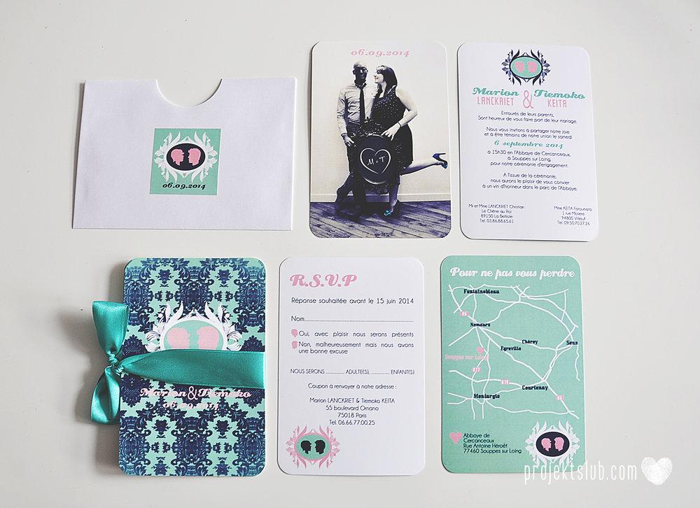 zaproszenia ślubne i dodatki weselne turkus mięta granat kamea piękne zaproszenia oryginalne nietypowe karty  elegancka oryginalna papeteria projekt ślub (11).jpg