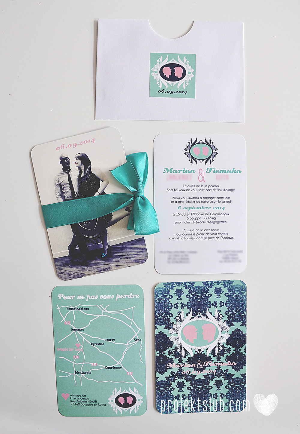 zaproszenia ślubne i dodatki weselne turkus mięta granat kamea piękne zaproszenia oryginalne nietypowe karty  elegancka oryginalna papeteria projekt ślub (13).jpg