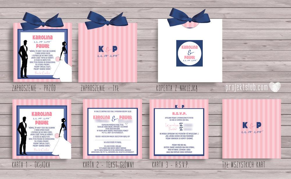 zaproszenia-ślubne-nowoczesne-para-młoda-retro-nowoczesne-pastele-róż-i-granat-eleganckie-zaproszenia-ze-wstążką-pasteloveretro-projekt-ślub copy.jpg