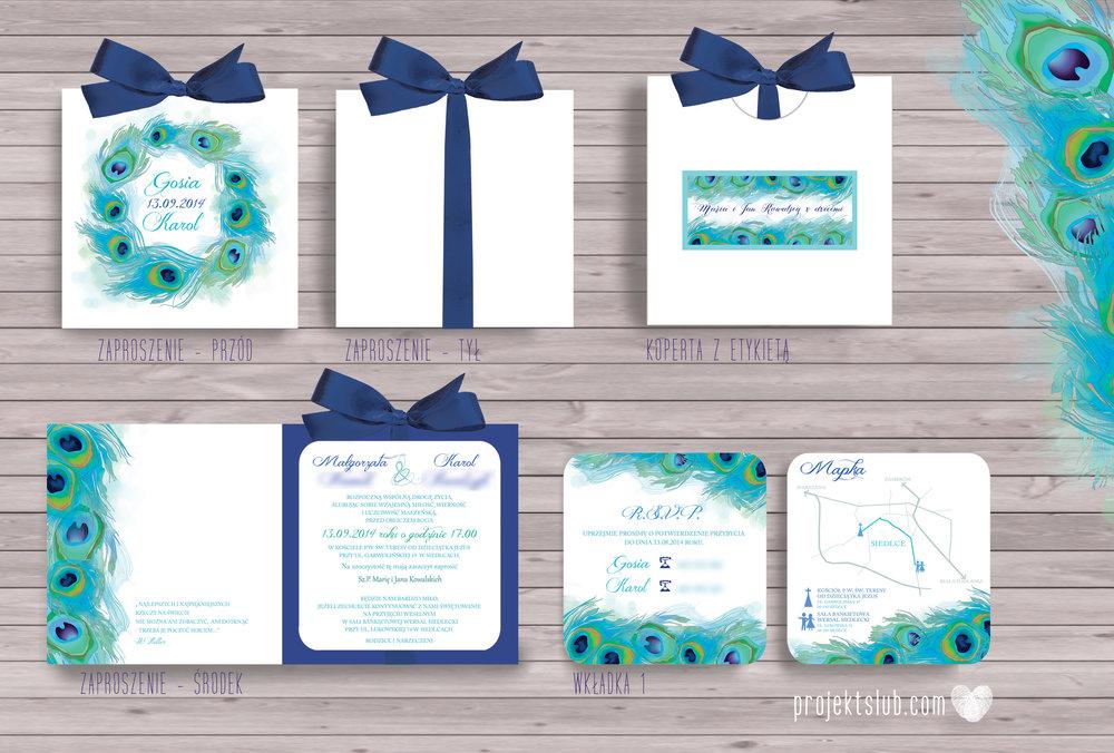 zaproszenia-ślubne-eleganckie-zaproszenia-z-pawim-piórem-zaproszenia-galmour-turkus-granat-kwiaty copy.jpg
