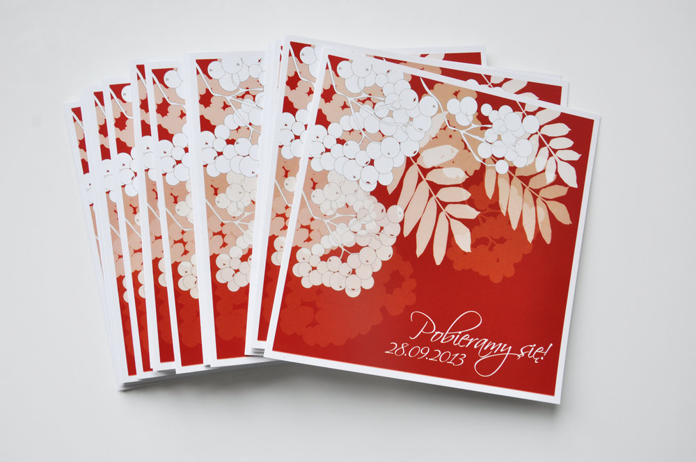 Zaproszenia ślubne jarzębinowa elegancja czerwień bordo biel eleganckie klasyczne z jarzębiną Projekt Ślub (4).JPG