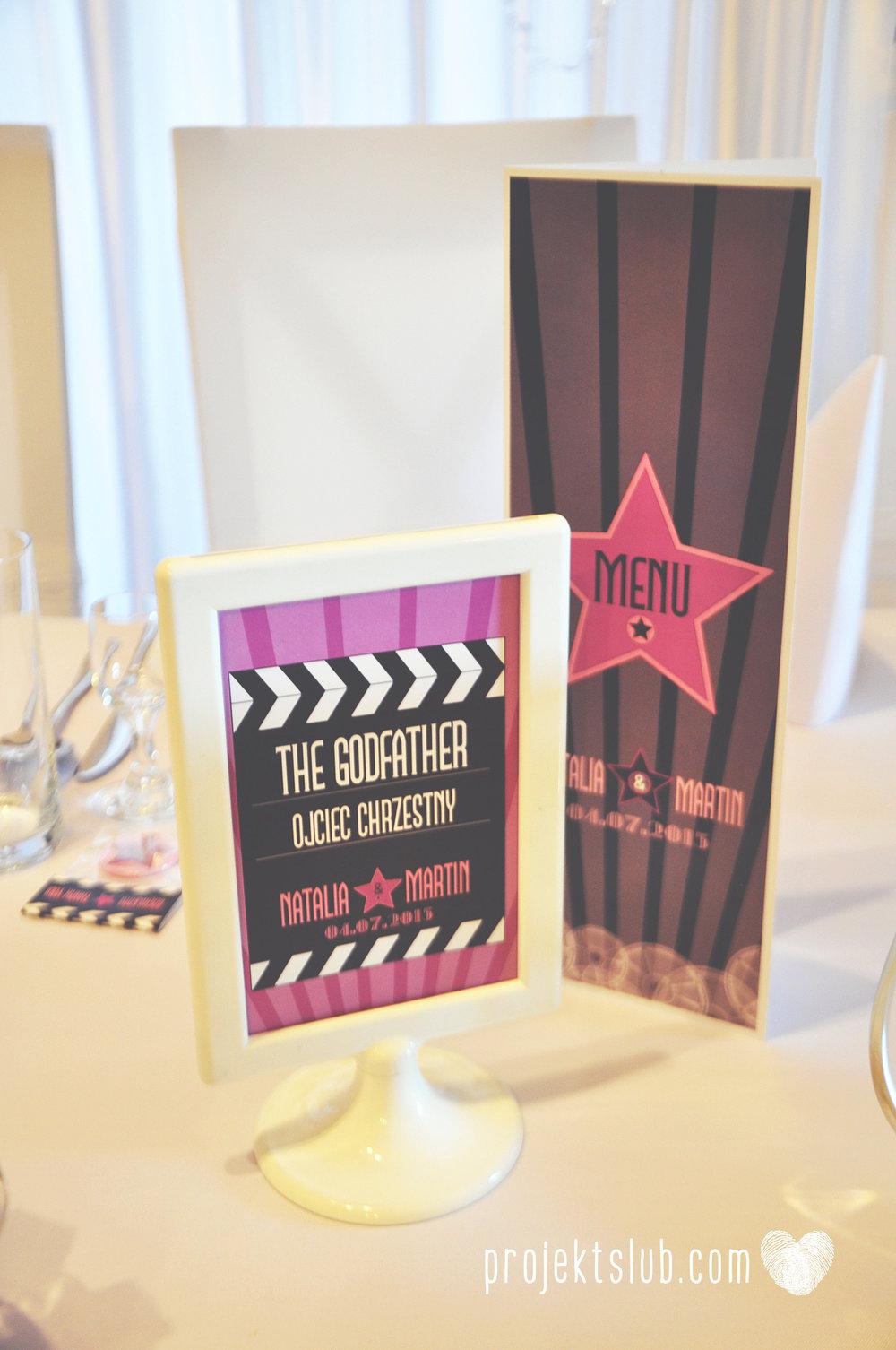 zaproszenie ślubne bilet filmowy bilet do kina premiera filmowa hollywood projekt ślub (4).JPG