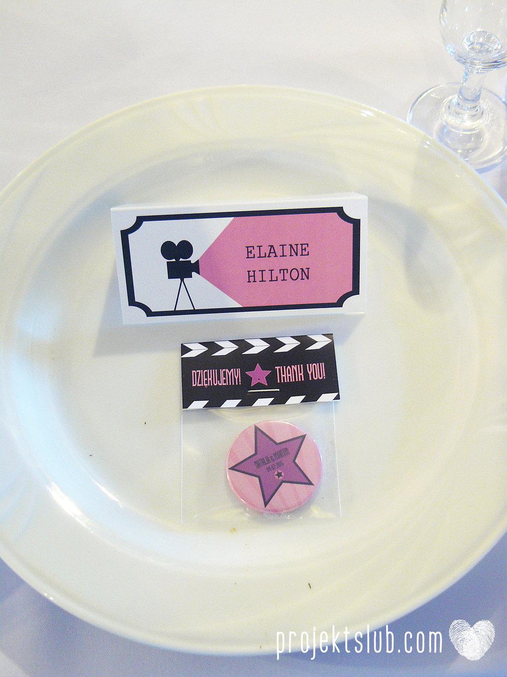 zaproszenie ślubne bilet filmowy bilet do kina premiera filmowa hollywood projekt ślub (34).JPG