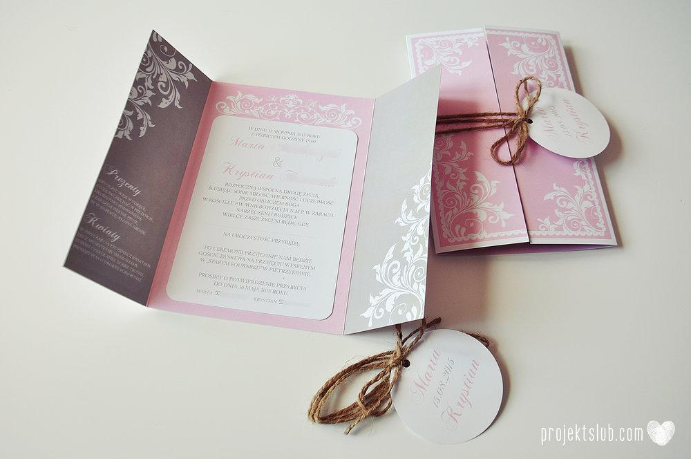 Zaproszenie ślubne oryginalne eleganckie duży format ołtarzykowe floral love rustykalne pastelove Projekt Ślub (2).JPG