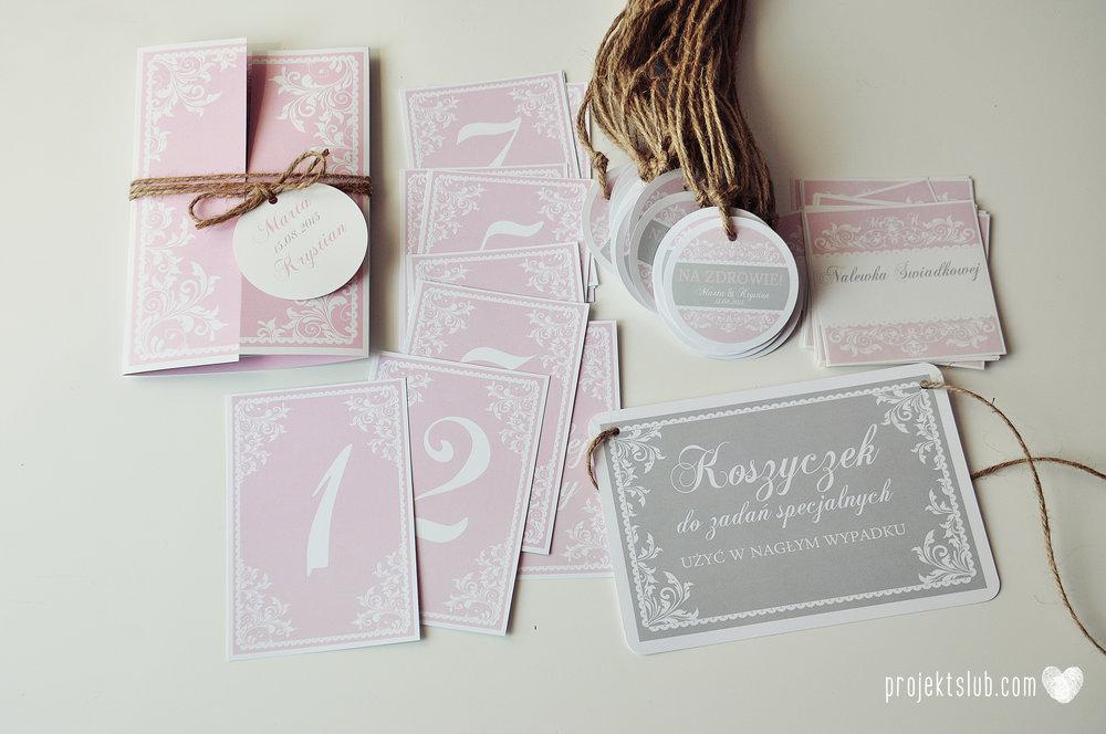 Zaproszenie ślubne oryginalne eleganckie duży format ołtarzykowe floral love rustykalne pastelove Projekt Ślub (7).JPG