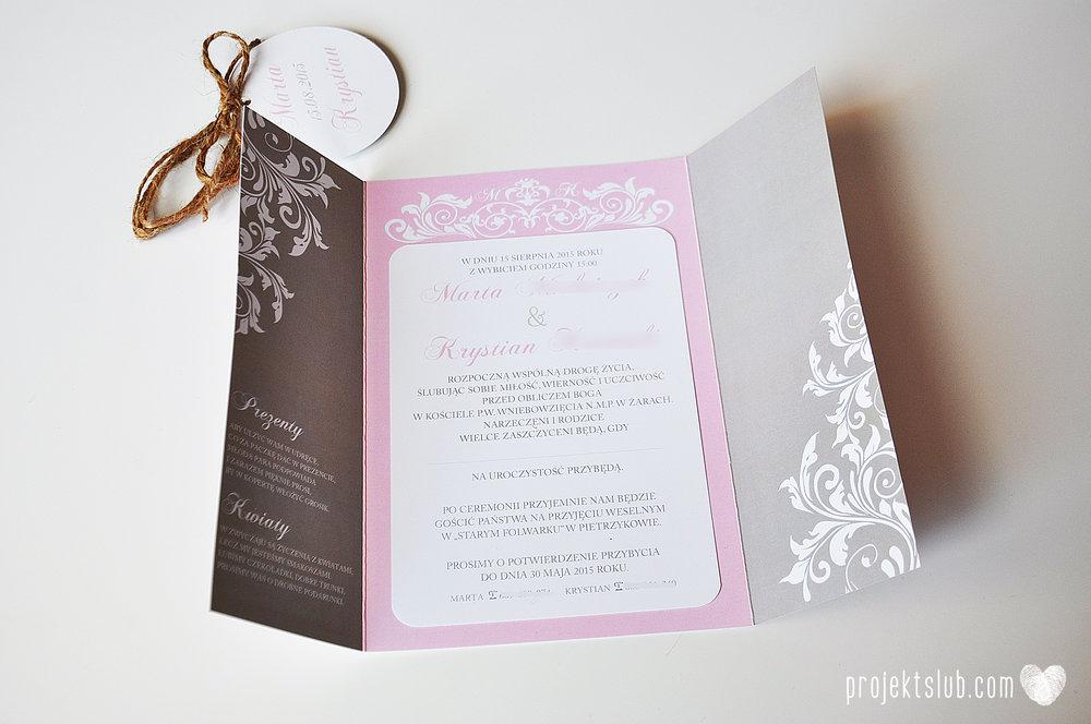 Zaproszenie ślubne oryginalne eleganckie duży format ołtarzykowe floral love rustykalne pastelove Projekt Ślub (3).JPG