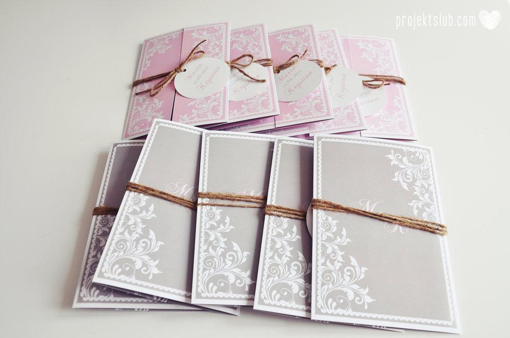 Zaproszenie ślubne oryginalne eleganckie duży format ołtarzykowe floral love rustykalne pastelove Projekt Ślub (10).JPG
