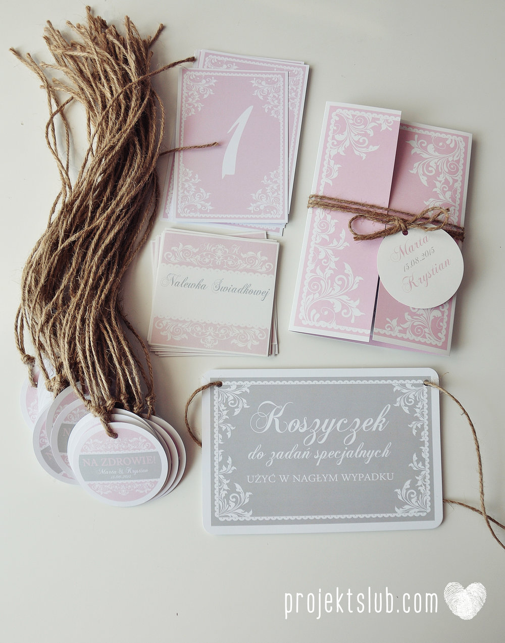 Zaproszenie ślubne oryginalne eleganckie duży format ołtarzykowe floral love rustykalne pastelove Projekt Ślub (9).JPG