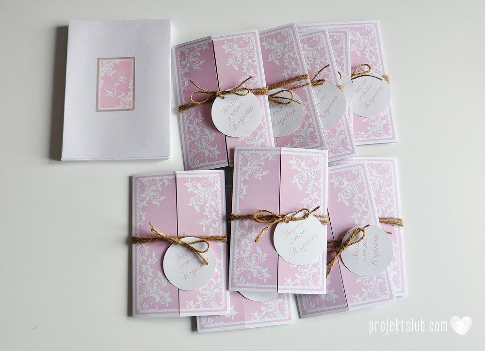 Zaproszenie ślubne oryginalne eleganckie duży format ołtarzykowe floral love rustykalne pastelove Projekt Ślub (11).JPG