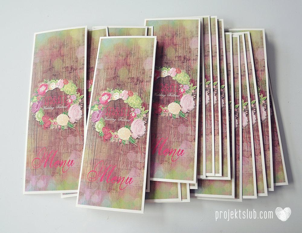 Zaproszenia ślubne wedding festival wianki kwiatowe drewno eko rustykalne boho kolorowe kwiaty festiwalowe wesele Projekt Ślub  (15).JPG