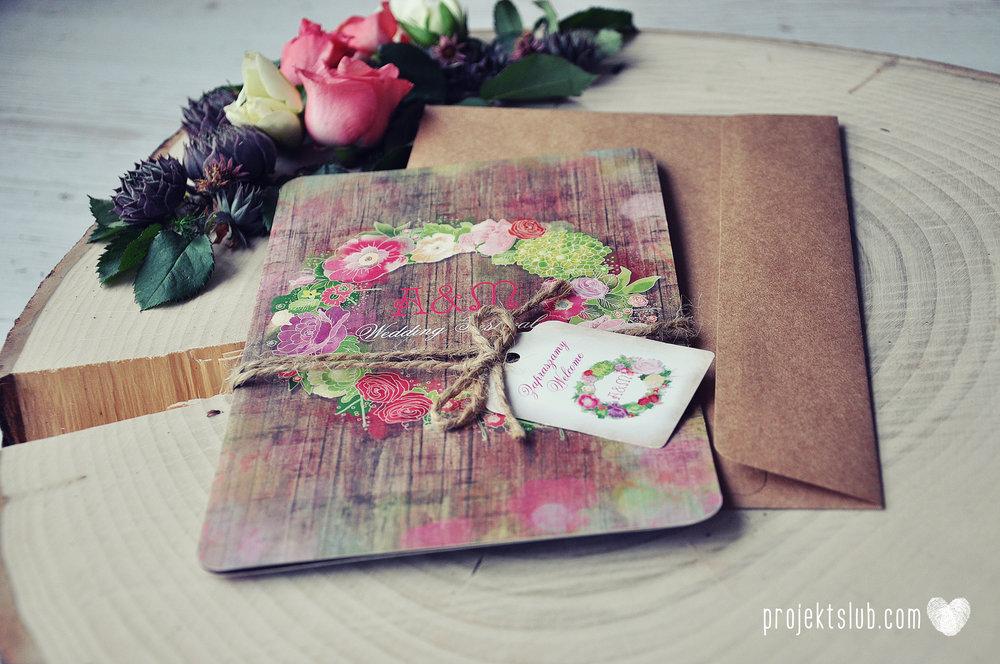 Zaproszenia ślubne wedding festival wianki kwiatowe drewno eko rustykalne boho kolorowe kwiaty festiwalowe wesele Projekt Ślub  (22).jpg