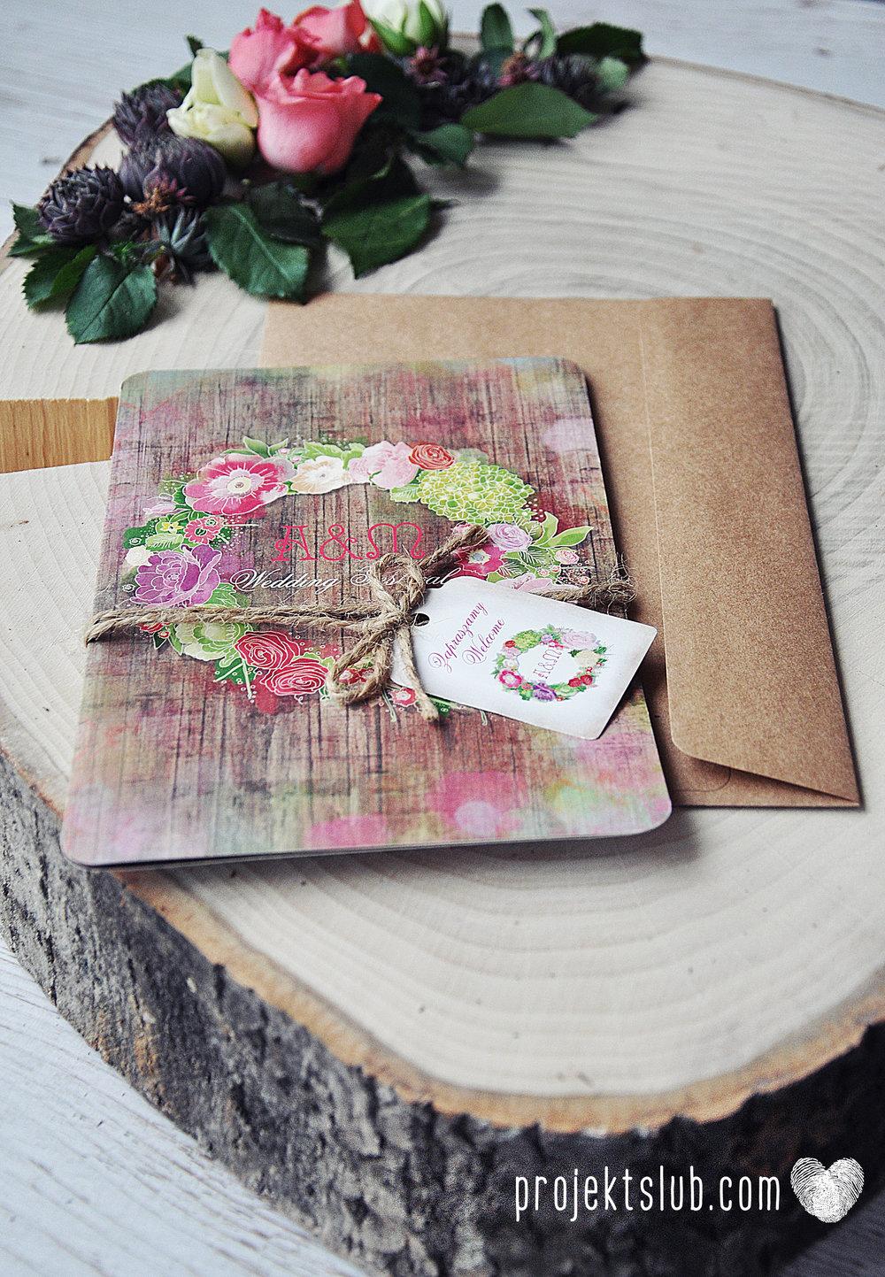 Zaproszenia ślubne wedding festival wianki kwiatowe drewno eko rustykalne boho kolorowe kwiaty festiwalowe wesele Projekt Ślub  (23).jpg