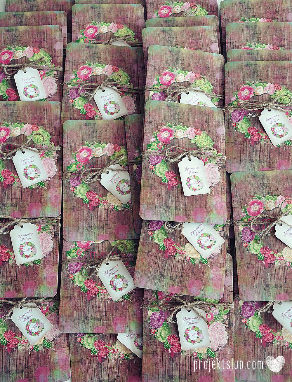 Zaproszenia ślubne wedding festival wianki kwiatowe drewno eko rustykalne boho kolorowe kwiaty festiwalowe wesele Projekt Ślub  (26).JPG