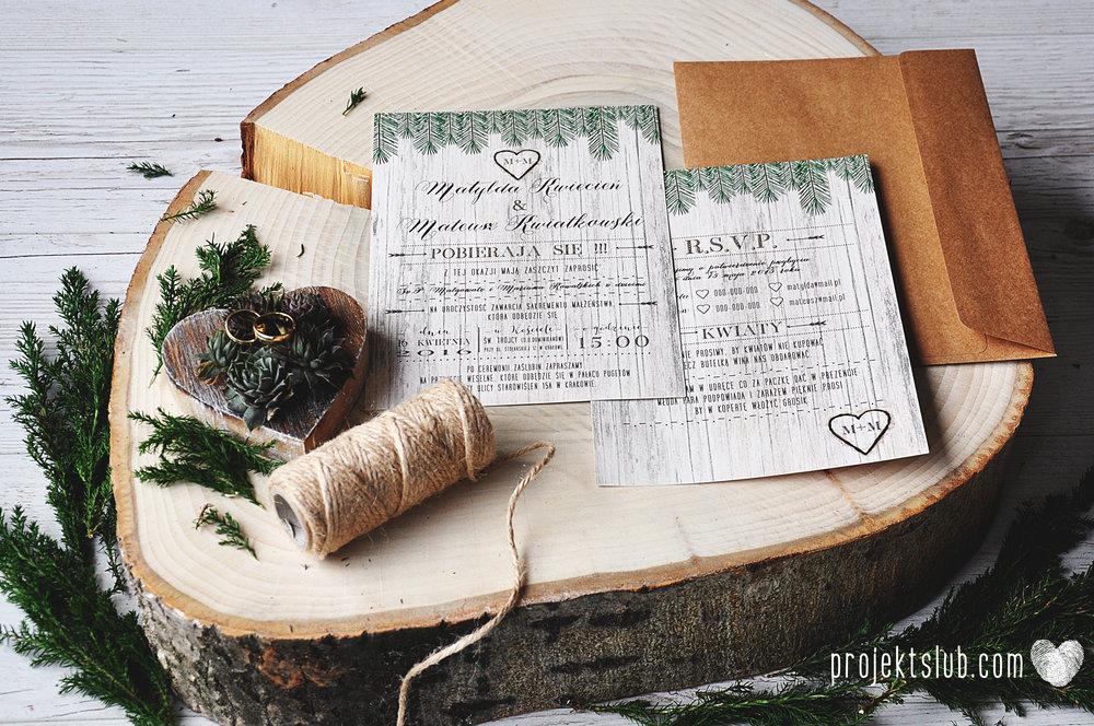 Zaproszenia ślubne Woodlove z motywem drewna iglaków świerku lasku rustykalne leśne eko Projekt Ślub (6).JPG