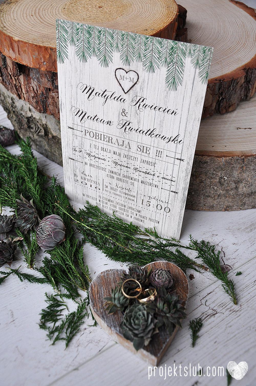 Zaproszenia ślubne Woodlove z motywem drewna iglaków świerku lasku rustykalne leśne eko Projekt Ślub (7).JPG
