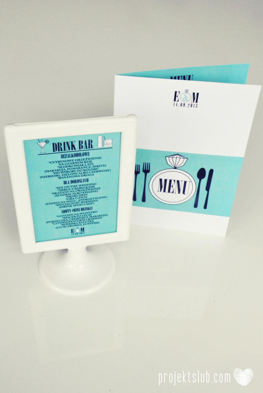 zaproszenia ślubne fashionelki wieża eiffel paryż piktogramy elegancki minimalizm błękit kolor tiffany zdjęcie narzeczonych Projekt Ślub (19).JPG
