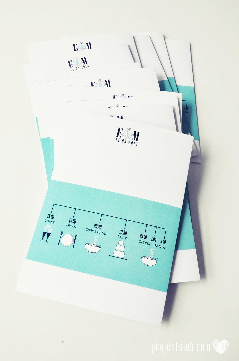 zaproszenia ślubne fashionelki wieża eiffel paryż piktogramy elegancki minimalizm błękit kolor tiffany zdjęcie narzeczonych Projekt Ślub (17).JPG