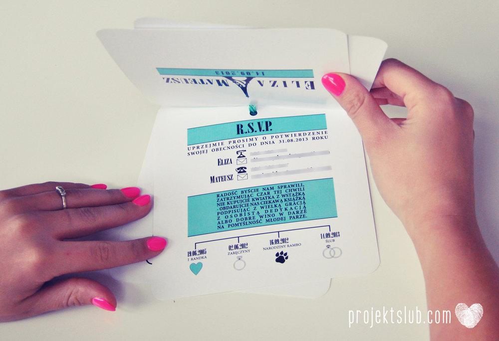 zaproszenia ślubne fashionelki wieża eiffel paryż piktogramy elegancki minimalizm błękit kolor tiffany zdjęcie narzeczonych Projekt Ślub (25).JPG