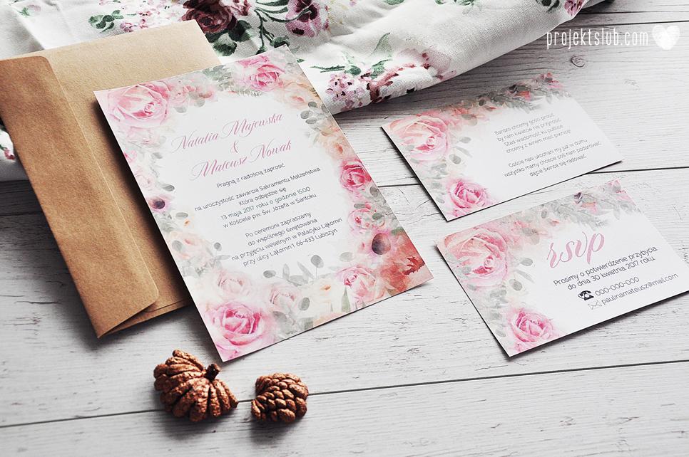 Zaproszenia ślubne I Dodatki Weselne