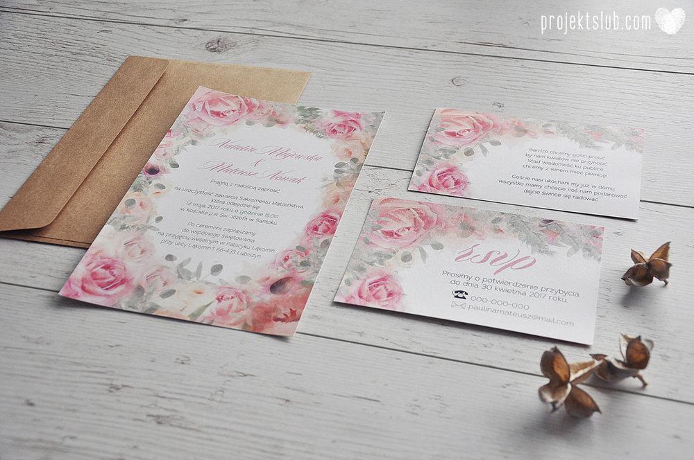 Zaproszenia slubne poligrafia weselna kwiatowe romantyczne wzory rustyklalne z kwiatami malowanymi akwarela Projekt Slub  (3).JPG