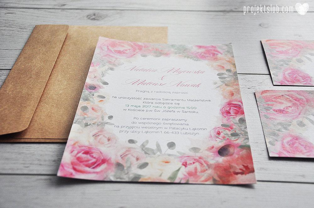 Zaproszenia slubne poligrafia weselna kwiatowe romantyczne wzory rustyklalne z kwiatami malowanymi akwarela Projekt Slub  (4).JPG