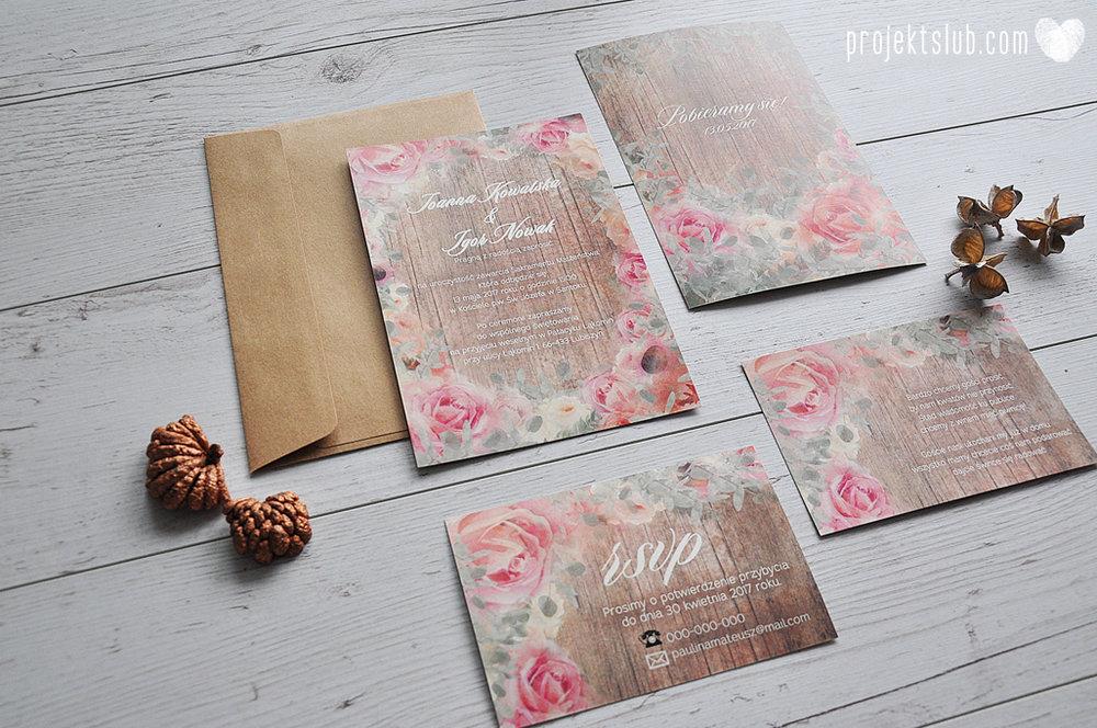 Zaproszenia slubne poligrafia weselna kwiatowe romantyczne wzory rustyklalne z kwiatami malowanymi akwarela Projekt Slub  (9).JPG