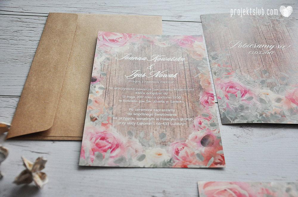 Zaproszenia slubne poligrafia weselna kwiatowe romantyczne wzory rustyklalne z kwiatami malowanymi akwarela Projekt Slub  (12).JPG