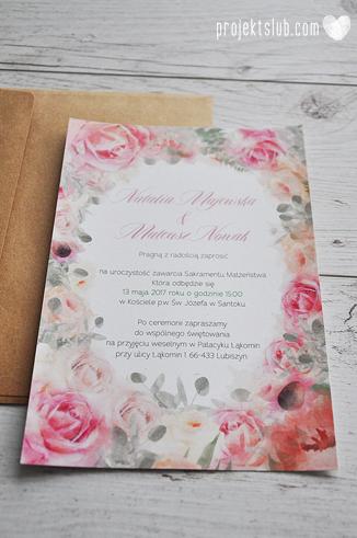 Zaproszenia slubne poligrafia weselna kwiatowe romantyczne wzory rustyklalne z kwiatami malowanymi akwarela Projekt Slub  (14).JPG