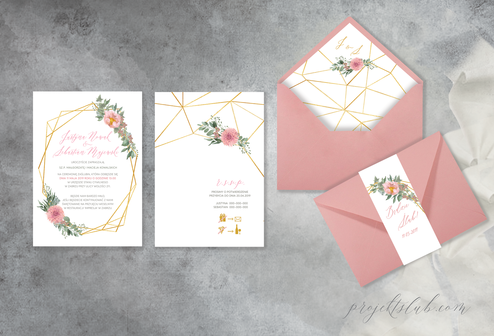 Bardzo dobra Zaproszenia ślubne i dodatki weselne PX57