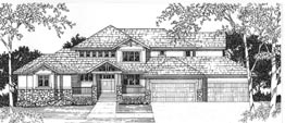 HALIFAX 4831 4831 Square Feet 4 Bedrooms – 4.5 Baths 100' Wide – 95' Deep Living room, covered deck and porch, study loft