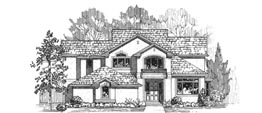 BENTLEY 3474 3474 Square Feet 4 Bedrooms – 3.5 Baths 57' Wide – 72' Deep Economical plan with a narrow footprint