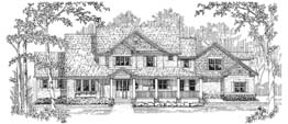 KINGSWOOD 3458   3458 Square Feet  3 Bedrooms – 3.5 Baths  93' Wide – 77' Deep  Farmhouse style, wrap-around porch, sun room, bonus room, loft
