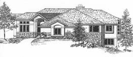 OXFORD 3423 3423 ML + 2808 LL = 6231 Total Square Feet 2 ML + 3 LL Bedrooms – 2.5 ML + 2.5 LL Baths 81' Wide – 100' Deep Ideal plan for a lot with a corner or panoramic view, hearth room