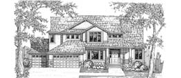 STRATFORD 3773 3773 Square Feet 4 Bedrooms - 3.5 Baths 71' Wide - 56' Deep Economical and most popular plan, back stair