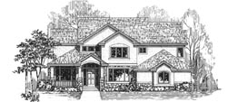 STRATFORD 3353B 3353 Square Feet 4 Bedrooms - 3.5 Baths 69' Wide - 53' Deep Economical and most popular plan, back stair, side entry garage