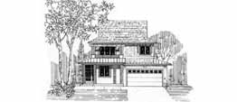 MANCHESTER 2556 2556 Square Feet 3 Bedrooms - 2.5 Baths 38' Wide - 67' Deep Narrow plan with front facing attached garage, alternate elevations