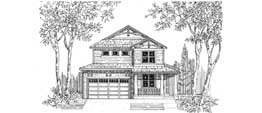 HIGHLAND 2502   2502 Square Feet  3 Bedrooms - 2.5 Baths  36' Wide - 55' Deep  Narrow plan with front or side entry garage, alternate elevations